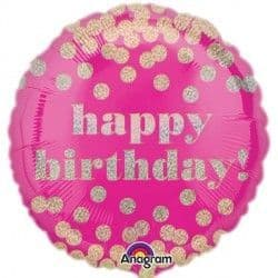 """Anagram 18"""" Dotty Holographic Happy Birthday Packaged"""