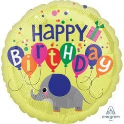 "Anagram 18"" Elephant Birthday Packaged"