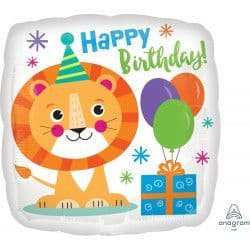 "Anagram 18"" Lion Happy Birthday Packaged"