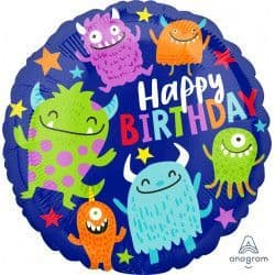 "Anagram 18"" Little Monsters Happy Birthday Packaged"