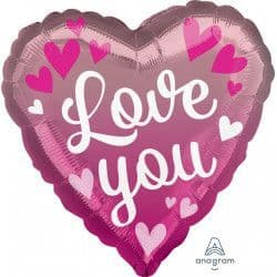 "Anagram 18"" Pink Ombre Love You  Packaged"