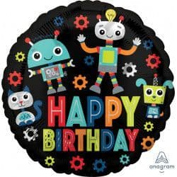 "Anagram 18"" Robots Happy Birthday Packaged"
