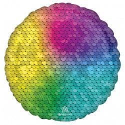 "Anagram 18"" S18 Rainbow Sequin Circle"