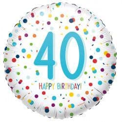 "Anagram 18"" S40 40 Confetti Birthday Packaged"