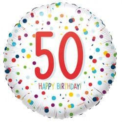"Anagram 18"" S40 50 Confetti Birthday Packaged"