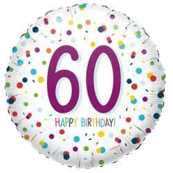 "Anagram 18"" S40 60 Confetti Birthday Packaged"