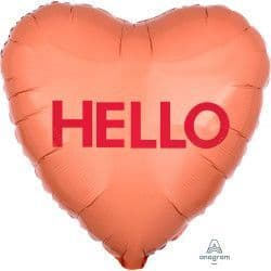 "Anagram 18"" S40 Candy Heart Hello Packaged"