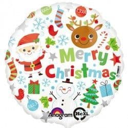 """ANAGRAM 18"""" S40 MERRY CHRISTMAS ICONS PKT"""