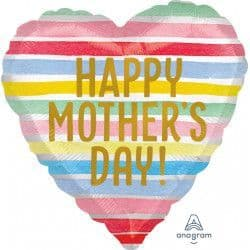 """Anagram 18"""" S40 Satin Stripes Happy Mother's Day Packaged"""