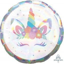 "Anagram 18"" S55 Iridescent Unicorn Party Packaged"