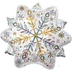 """ANAGRAM 18"""" S80 SHINING SNOW HOLOGRAPHIC PKT"""