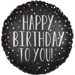 """Anagram 18"""" Satin Luxe Dots To You Birthday Packaged"""