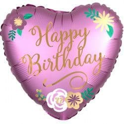"""Anagram 18"""" Satin Luxe Flowers Birthday Packaged"""