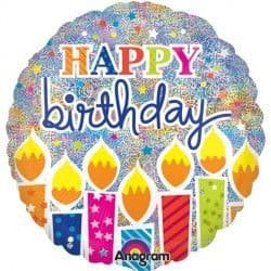 """Anagram 18"""" Shimmer Birthday Candles Holographic Packaged"""