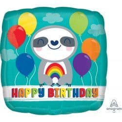 "Anagram 18"" Sloth Happy Birthday Packaged"