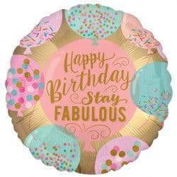"""Anagram 18"""" Stay Fabulous Birthday Packaged"""