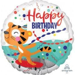 "Anagram 18"" Tiger Happy Birthday Packaged"