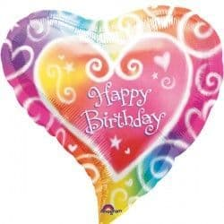 """Anagram 18"""" Watercolour Birthday Packaged"""
