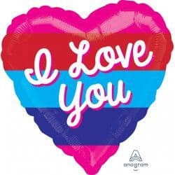 "Anagram 21"" S70 Bright Stripes Love You Colour Blast Packaged"
