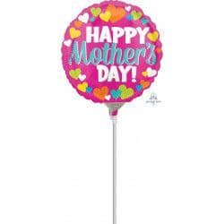 """ANAGRAM 9"""" A15 HEARTS HAPPY MOTHER'S DAY FLAT (REQUIRES HEATSEALING)"""