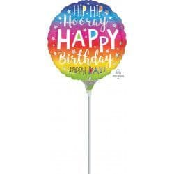 "Anagram A15 9"" Hip Hip Hooray Birthday Flat (Requires Heatsealing)"