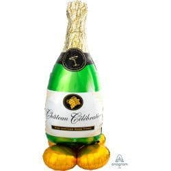 "ANAGRAM BUBBLY WINE BOTTLE P70 AIRLOONZ PKT (24"" X 60"")"