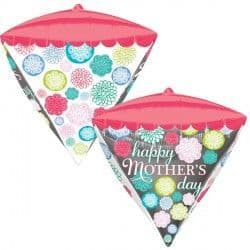 "Anagram G20 Diamondz Floral Pattern Happy Mother's Day 15""x17"" Packaged"