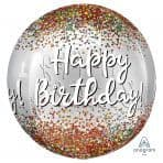 "Anagram  G20 Happy Birthday Sequins Orbz  15""x 16"" Pack"