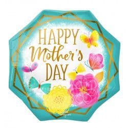 """Anagram P32 Jumbo Gold Trim Octagon Mother's Day 28"""" x 28"""" Packaged"""