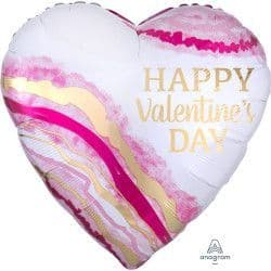 """Anagram P32 Jumbo Watercolour Geode Happy Valentine's Day Packaged 28""""x28"""""""