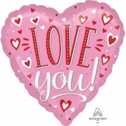"""Anagram P32 Jumbo White Dots Love You 28""""x28"""" Packaged"""