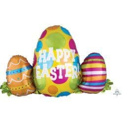 "Anagram P35 Shape Egg Trio Happy Easter Packaged 29""x25"""