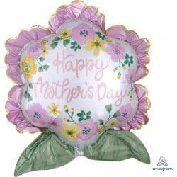 """Anagram P35 Shape Flower Satin Happy Mother's Day 25"""" x27"""" Packaged"""