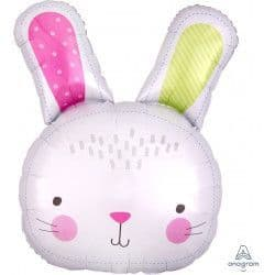 "Anagram P35 Shape Hello Bunny Head Packaged 24"" x 28"""