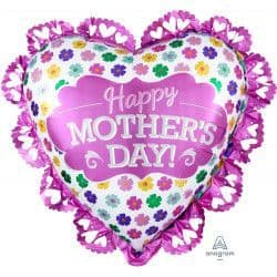 """Anagram P38 Shape Pink Intricate Heart Mother's Day Packaged 23"""" x 21"""""""