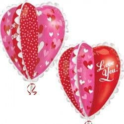"""Anagram P40 Ultra Shape Panel Heart Love You Packaged 30""""x30"""""""