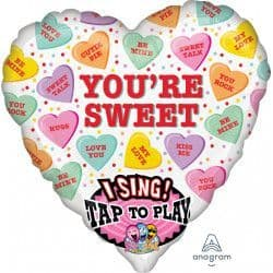 """Anagram P60 Sing A Tune Sweet Candy Hearts Packaged 29""""x29"""""""