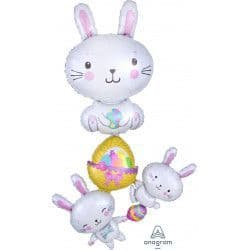 Anagram P70 Multi Balloon Easter Bunny Stacker Packaged