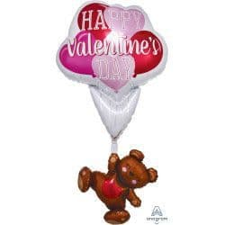 """Anagram P70 Multi Balloon Shape Floating Bear Valentine's Day 29""""x56"""" Packaged"""