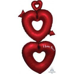 """Anagram P70 Multi Balloon Shape Open Hearts Packaged 29""""x63"""""""