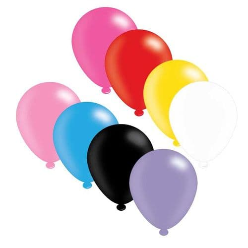 Assorted Colours Latex Balloons (x25)