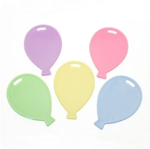 Assorted Pastel Balloon Shape Weights 50 Pack
