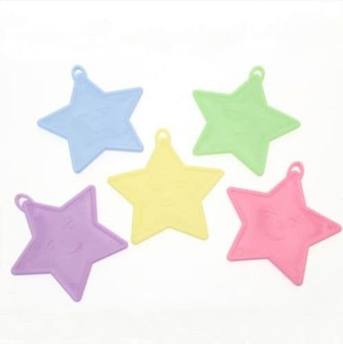 Assorted  Pastel Star Shape Weights 50 Pack