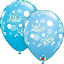 """BABY BOY BLUE DOTS-A-ROUND 11"""" PALE BLUE & ROBIN'S EGG (25CT)"""