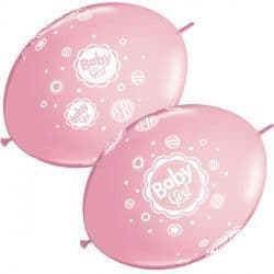 """BABY GIRL DOTS QUICK LINK 12"""" PINK (50CT)"""
