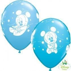 """BABY MICKEY STARS 11"""" PALE BLUE & ROBIN'S EGG BLUE (25CT)"""