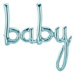 """BABY SCRIPT PASTEL BLUE 40"""" AIRFILLED SHAPE S1-01  BABY SCRIPT PASTEL BLUE 46"""" AIRFILLED SHAPE S"""