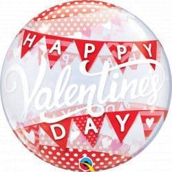 """BANNERS VALENTINE'S DAY 22"""" SINGLE BUBBLE"""