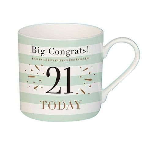 Big Congrats 21 Mug female gift