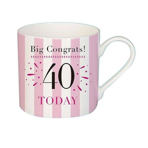 Big Congrats 40 Mug female gift